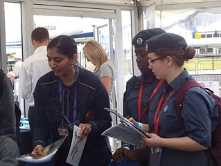 Air Cadets at SBAP Stand, FIA 2016