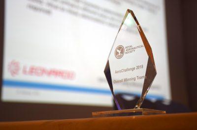 RAeS Aerochallenge trophy and sponsor 2018