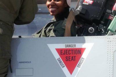 Dr Onalenna Nako in aircraft